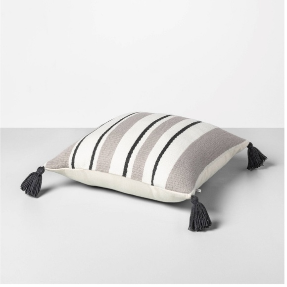 """Hearth & Hand Other - Hearth & Hand Outdoor Stripe Square Pillow 18"""""""